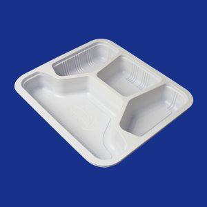 Khay cơm dùng 1 lần màu trắng 500 Khay/Thùng